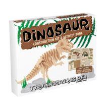 T-Rex fa Professor Puzzle építő szett, közepes