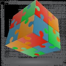 V-Cube 2x2 versenykocka, Puzzle
