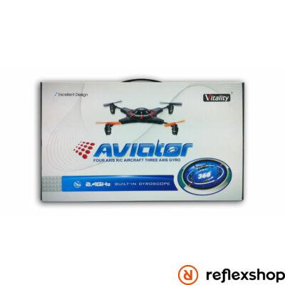 Aviator távírányítható quadrocopter fekete/piros
