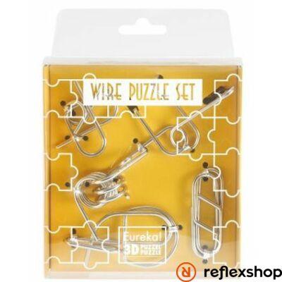 Mini Wire Puzzle Ördöglakat Szett - Sárga