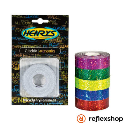 Henry's Glitter dekorszalag, piros