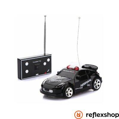 RC Police Mini Racer fekete távirányítós versenyautó