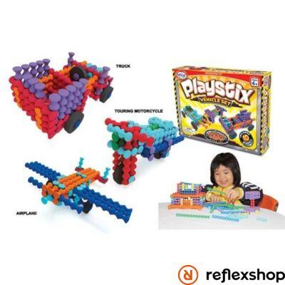 Popular Playthings Playstix Járművek készlet építő játék