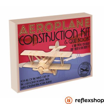 Repülőgép Professor Puzzle fa építő szett