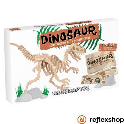 Velociraptor Professor Puzzle fa építő szett nagy