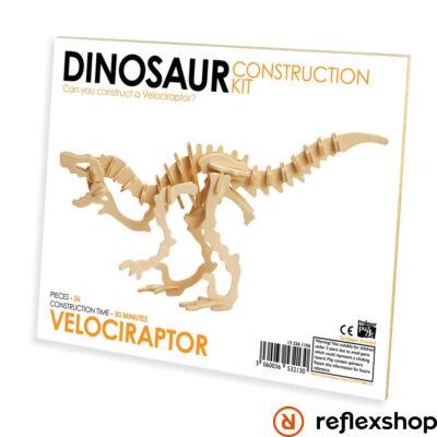 Velociraptor Professor Puzzle fa építő szett standard