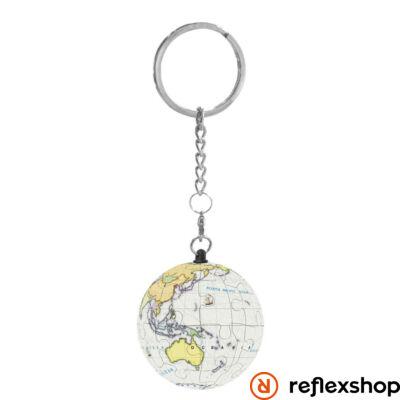 RG Puzzle gömb kulcstartó - földgömb fehér
