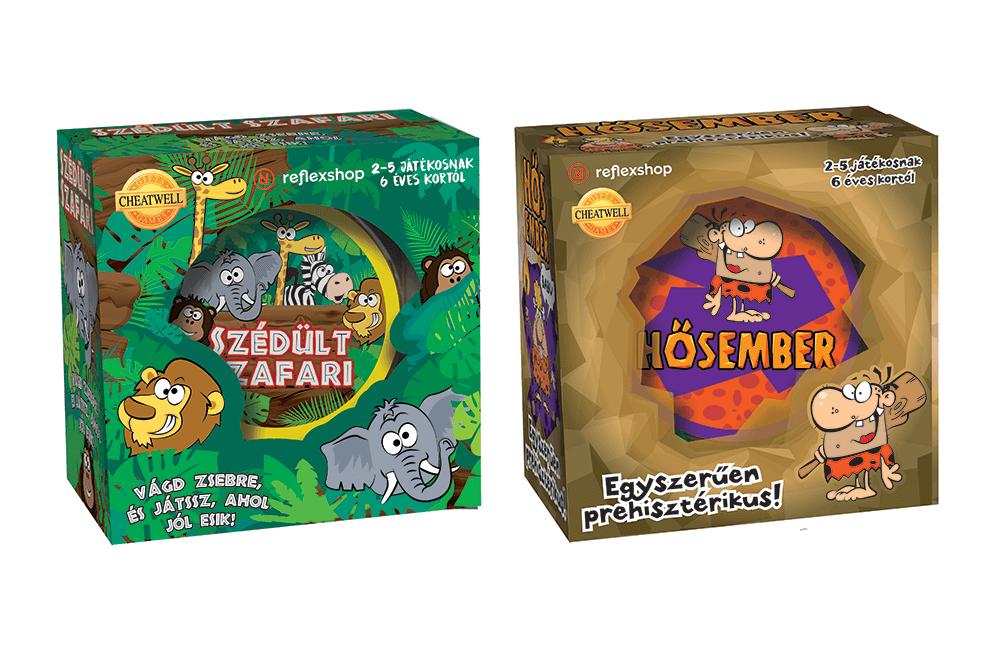 Cheatwell Games Szédült Szafari és Hősember társasjátékok