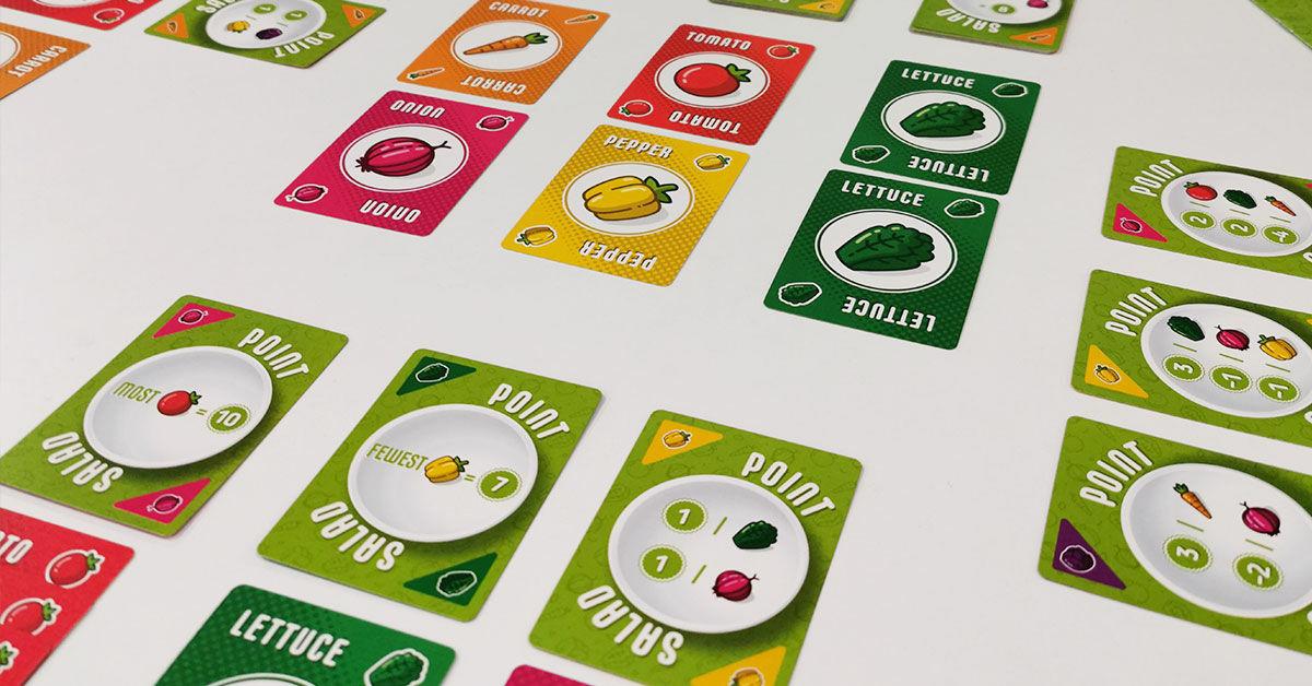 Point Salad - zöldségkártyák és pontkártyák, játékmenet