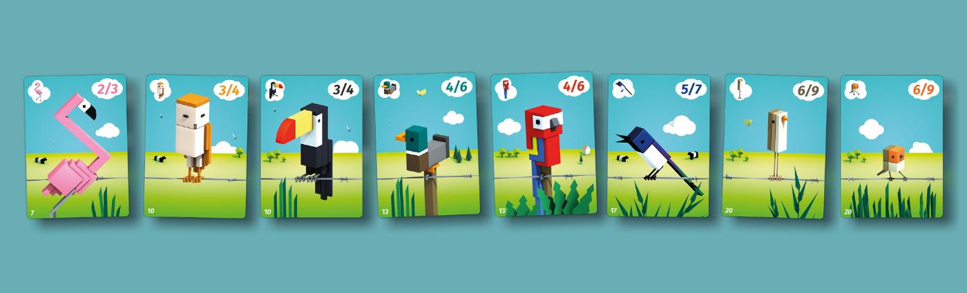 KocKanári - Cubirds - kártyák, kártyatípusok