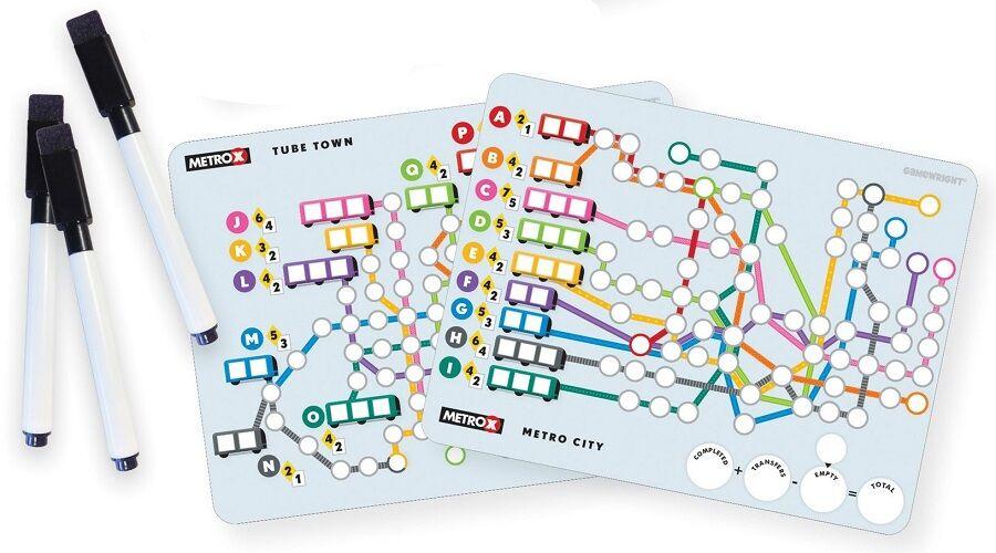 Metro X komponensek - a kép eredetije megtalálható itt: BGG.com