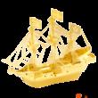 Kép 1/2 - Metal Earth aranyszínű Golden Hind hajó
