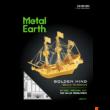 Kép 2/2 - Metal Earth aranyszínű Golden Hind hajó