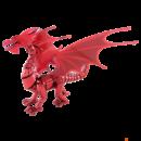 Metal Earth ICONX Vörös Sárkány - nagyméretű lézervágott acél makettező szett