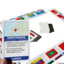 Zászlók a világ körül társasjáték - feladványkártya