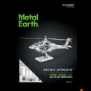 Metal Earth Boeing AH-64 Apache helikopter - lézervágott acél makettező szett