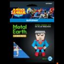 Metal Earth DC Igazság Ligája - Superman mini modell - lézervágott acél makettező szett