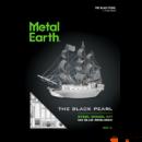 Metal Earth Fekete Gyöngy vitorlás hajó - lézervágott acél makettező szett