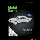 Metal Earth Ford 1965-ös Mustang kupé - lézervágott acél makettező szett