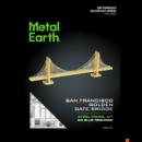 Metal Earth Golden Gate híd - aranyszínű - lézervágott acél makettező szett