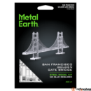 Metal Earth Golden Gate híd - lézervágott acél makettező szett