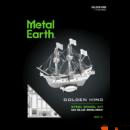 Metal Earth Golden Hind hajó - lézervágott acél makettező szett