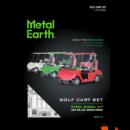 Metal Earth Golfkocsi szett - lézervágott acél makettező szett