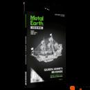 Metal Earth ICONX Anna Királynő bosszúja kalózhajó - nagyméretű lézervágott acél makettező szett