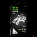 Metal Earth ICONX Willy's Jeep - lézervágott acél makettező szett