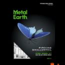 Metal Earth Kék fecskefarkú pillangó - lézervágott acél makettező szett