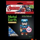 Metal Earth Marvel Bosszúállók - Amerika Kapitány mini modell - lézervágott acél makettező szett