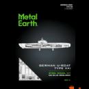 Metal Earth Német U-Boat XXI hajó - lézervágott acél makettező szett