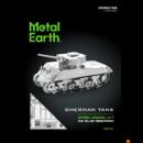 Metal Earth Sherman Tank - lézervágott acél makettező szett