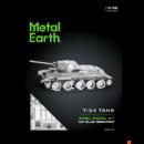 Metal Earth T-34 Tank - lézervágott acél makettező szett