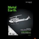 Metal Earth UH-1 helikopter - lézervágott acél makettező szett