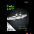 Metal Earth USS Arizona hajó - lézervágott acél makettező szett