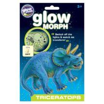 Glow Morph Foszforeszkáló Triceratopsz