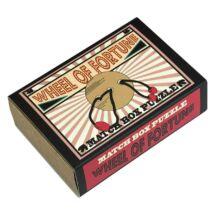 Wheel of Fortune Matchbox Professor Puzzle ördöglakat