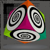 V-Cube 3x3 versenykocka Funky Spirál