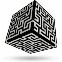 V-Cube 3x3 versenykocka Labirintus