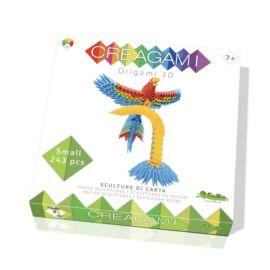 Creagami -3D origami készlet, Papagáj (kicsi)