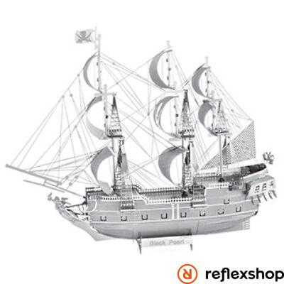 Metal Earth ICONX Fekete Gyöngy vitorlás hajó