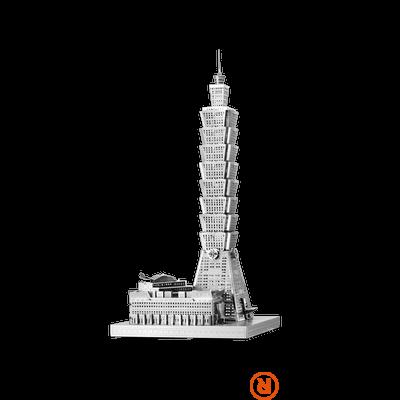 Metal Earth ICONX Taipei 101 torony