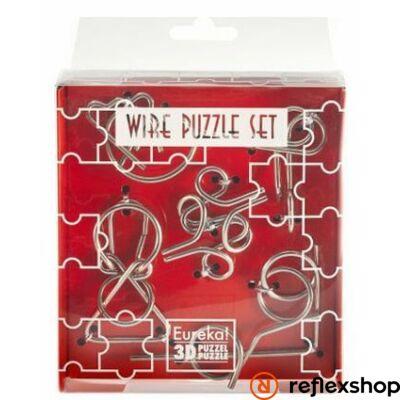 Mini Wire Puzzle Ördöglakat Szett - Piros