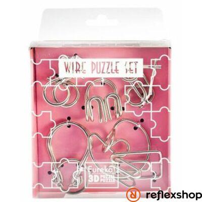 Mini Wire Puzzle Ördöglakat Szett - Rózsaszín