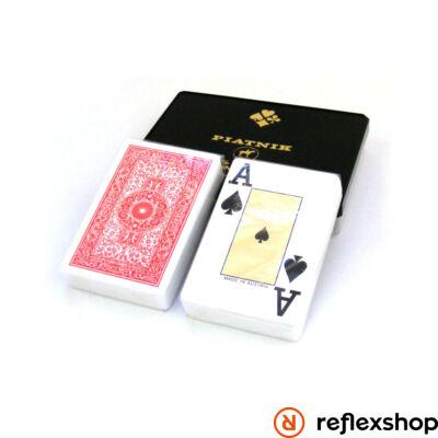 Piatnik plasztik römi kártya 2*55 lap normál index