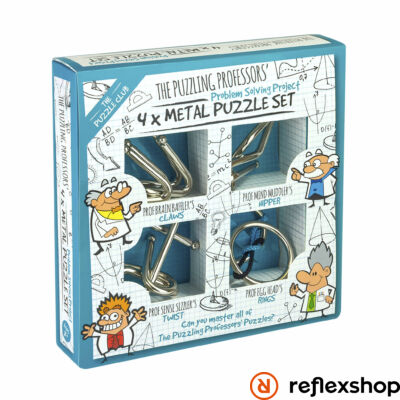 The Puzzling Professors' 4 x Metal Puzzle Set