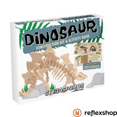 Stegosaurus Professor Puzzle fa építő szett közepes