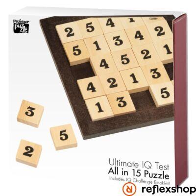 All in 15 Professor Puzzle logikai játék
