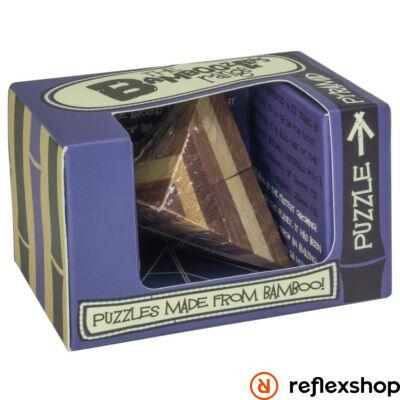 Pyramid mini Professor Puzzle bambusz ördöglakat